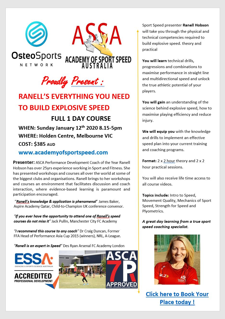 Ranell Course Melbourne Osteo
